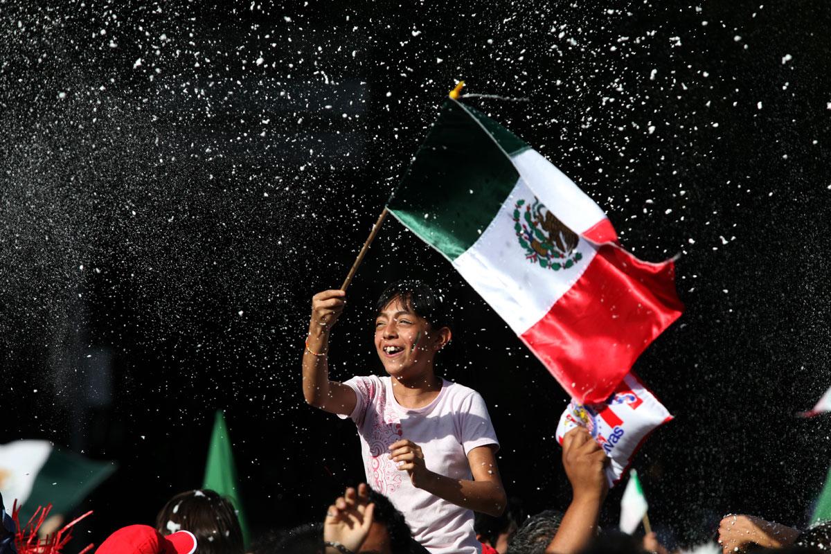 mexicanos festejando